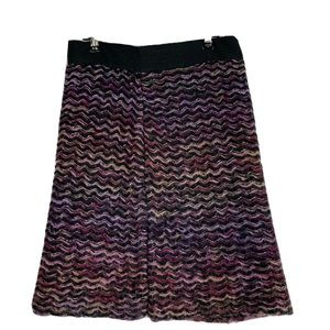 Knitted & Knotted Anthropologie Skirt Sz 6 purple